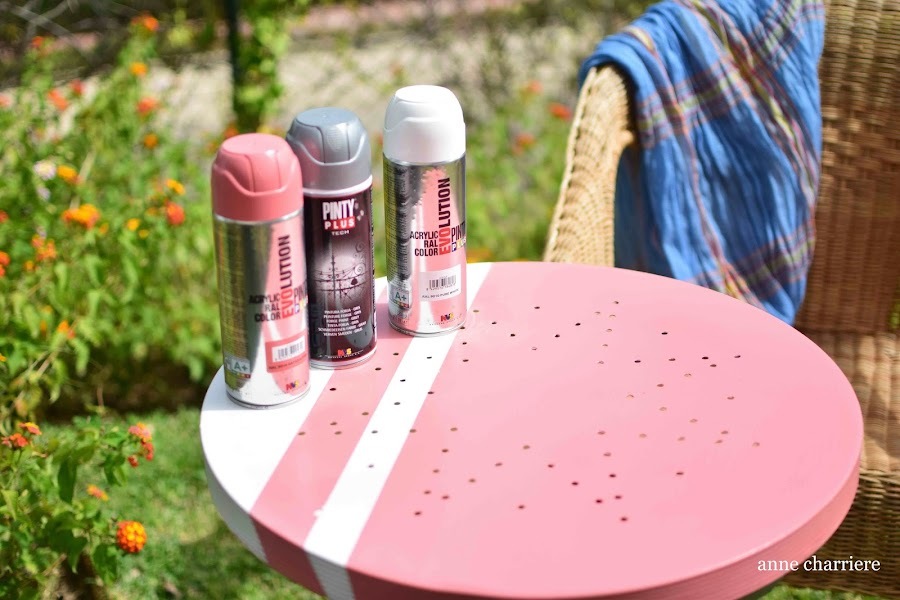 www.annecharriere.com, pintar con pintura spray, facilísimo,