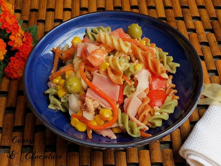 Ensalada de pasta tricolor – Tricolor pasta salad