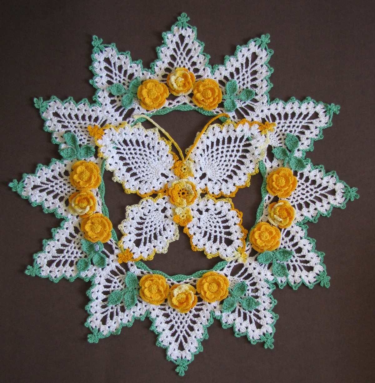 Free Crochet Patterns For Butterfly Doilies : BellaCrochet: April 2011