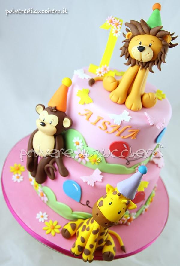 leone, giraffa, scimmia, polvere di zucchero