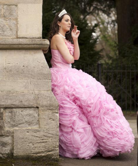 Gypsy big pink wedding dress design by princess kate middleton