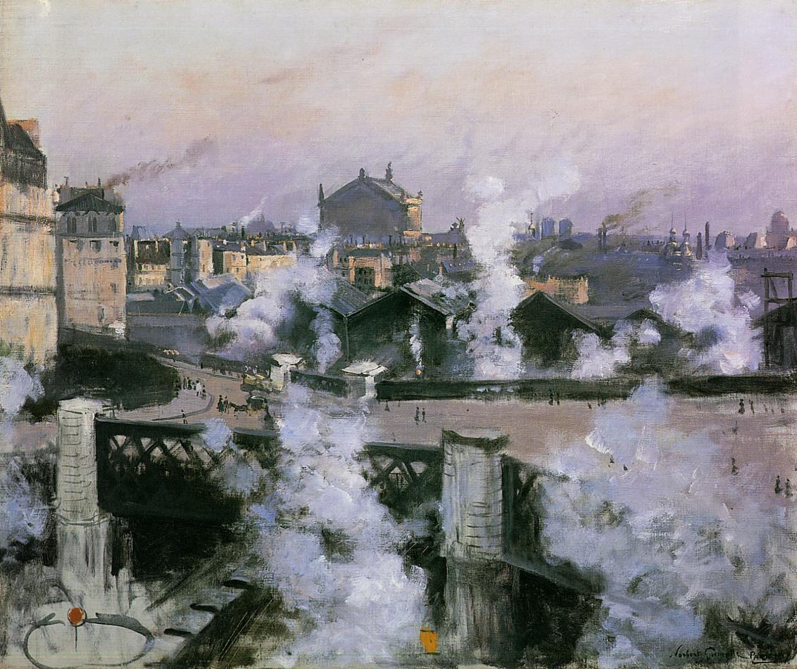 Norbert Goeneutte Le Pont de l Europe et la gare Saint Lazare  mus C Ae d art de  altimore