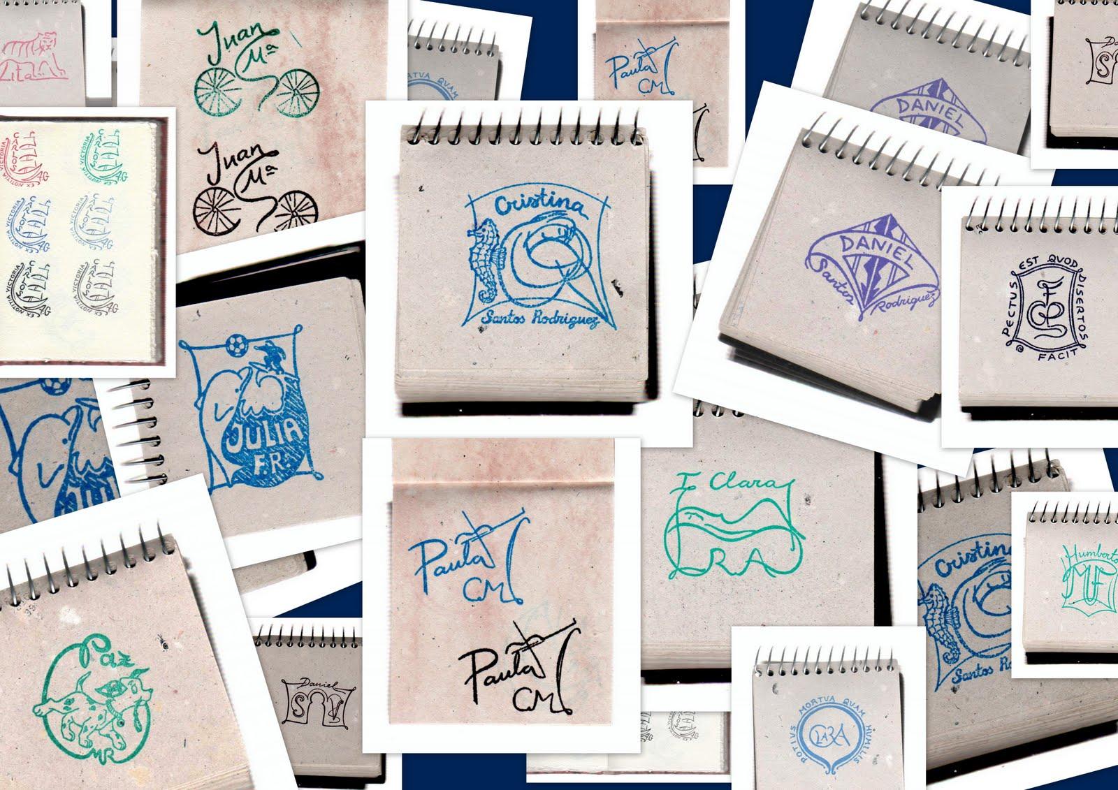 El rinoceronte de cristal ex libris personalizado sello - Ex libris personalizados ...