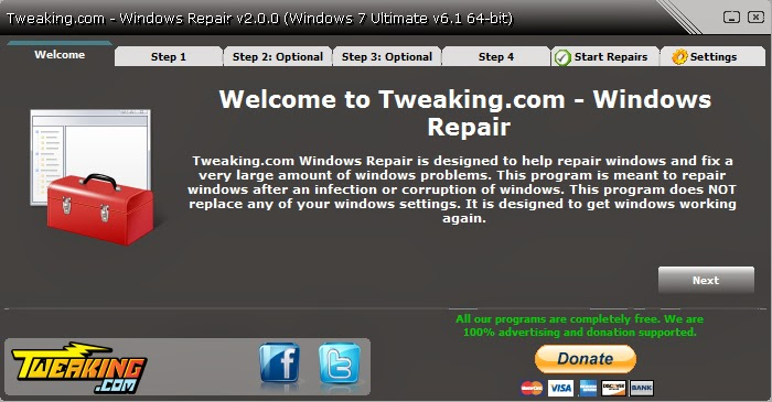 Portable Tweaking.com - Windows Repair 2.4.1 softwikia