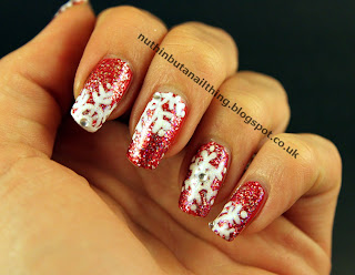 sparkly snowflake nails