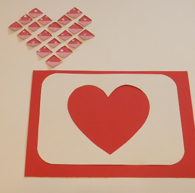 DIY handmade Diamond Folded card for Valentine's day