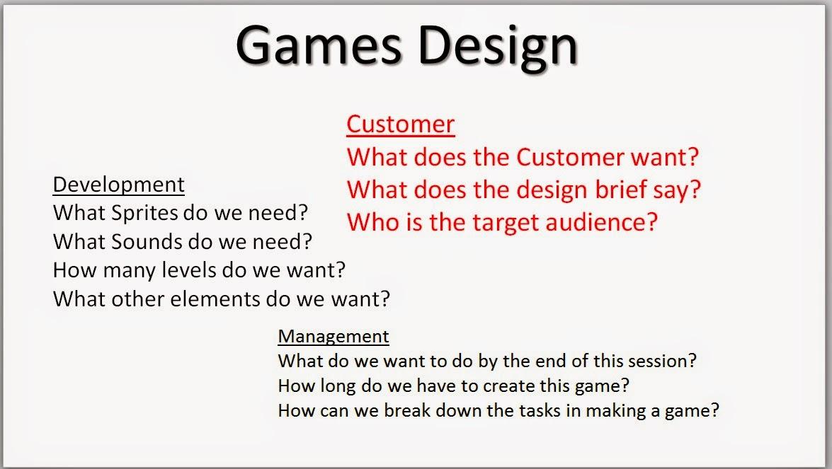 Waynes Games Design Blog November - Game design brief