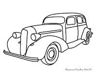 Lembar Mewarnai Gambar Mobil Antik