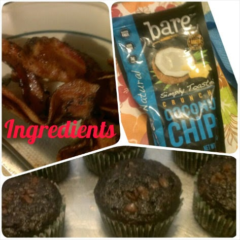 bare snacks bacon coconut chocolate chocolate cupakes ingredients