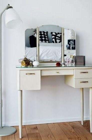 Kp decor studio espejo de tocador vintage de tres hojas - Espejos vintage ...