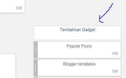 cara menambahkan widget di blog