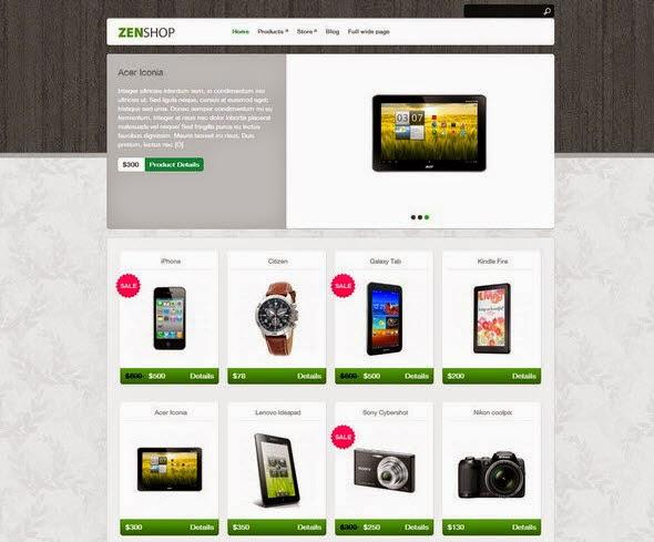 Free E-commerce WordPress Themes 2014