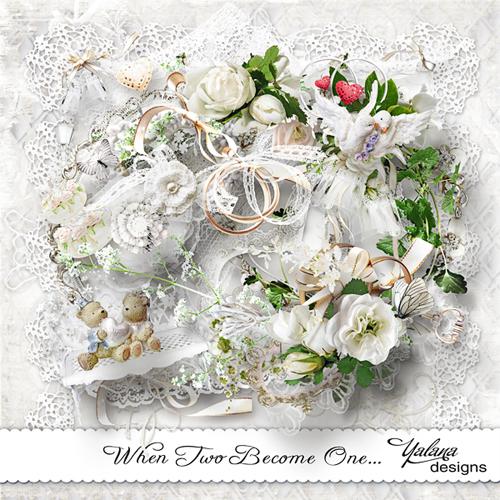 Распакованный скрап набор свадебный