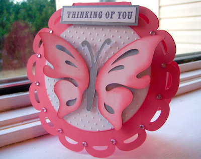 Thinking of You Butterfly Card Cricut