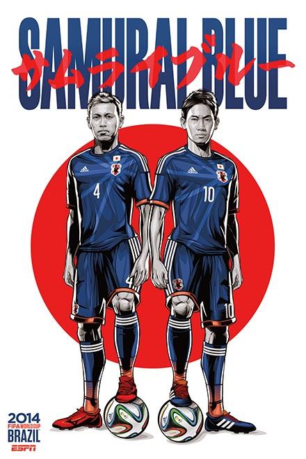 Poster keren world cup 2014 - Jepang