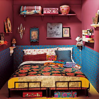 HOME DESIGNS TRICKS: Bohemian Style Bedroom Ideas