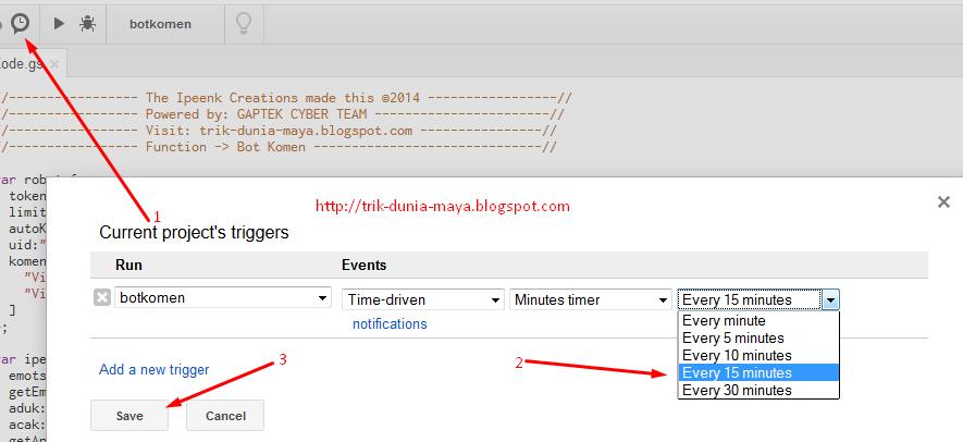 Cara Setting Tigger Di Google Script