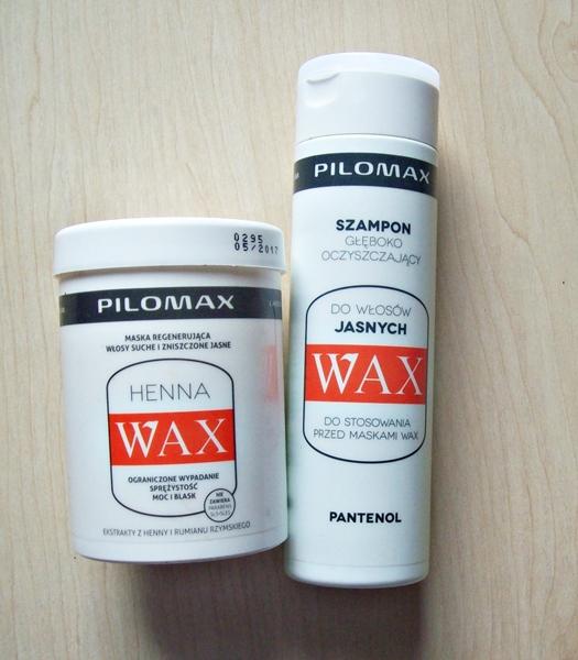 Szampon i odżywka Wax do włosów jasnych.
