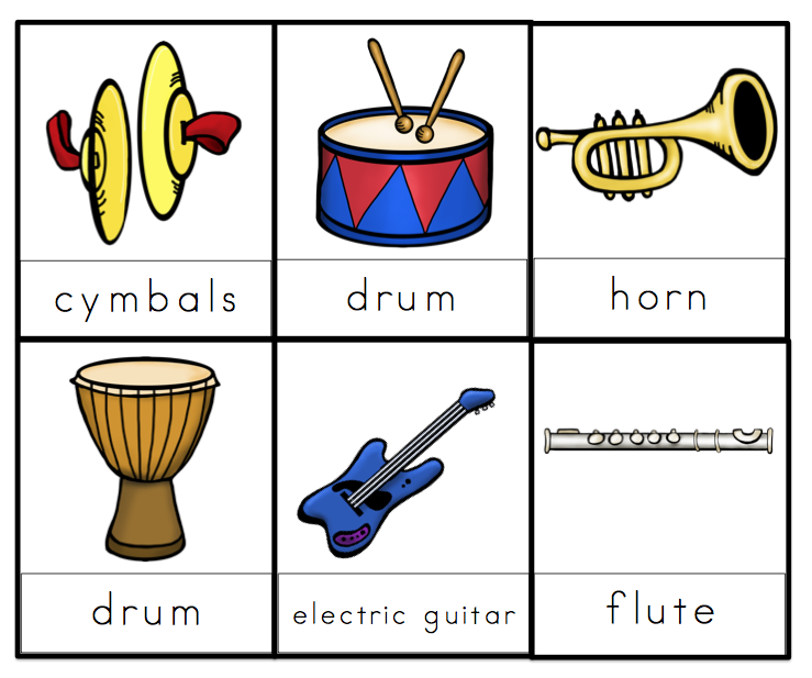 Crush image for printable pictures of musical instruments