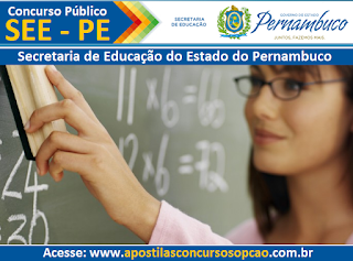 Apostila Concurso SEEPE 2015 Professor Pernambuco (PE).