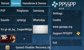 cara setting emulator PS2 / PSP 8