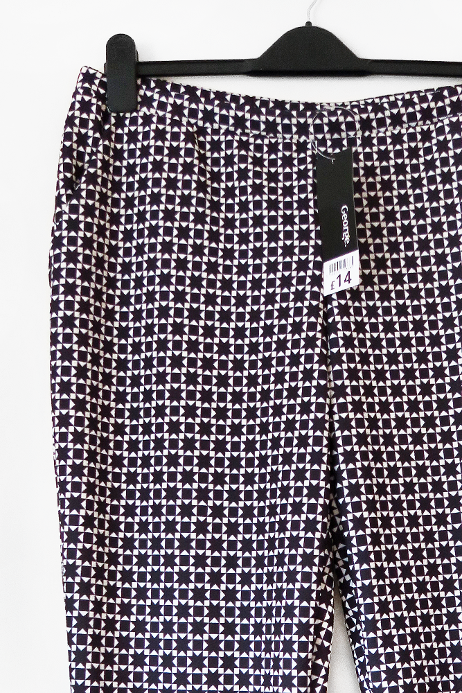 Geometric Patterned Trousers George Asda
