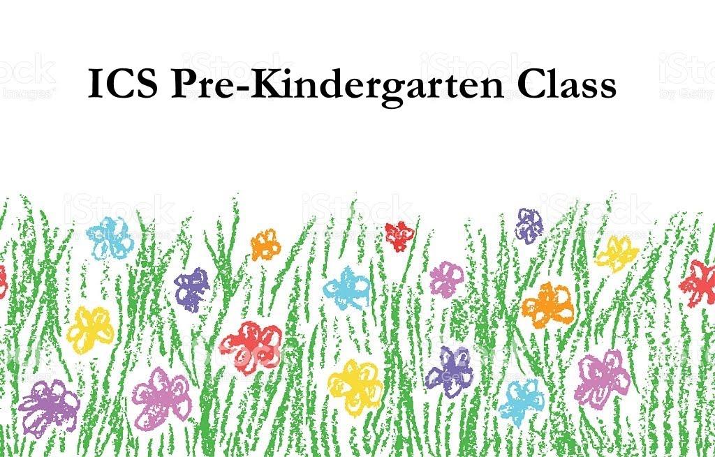 ICS Pre-Kindergarten Class