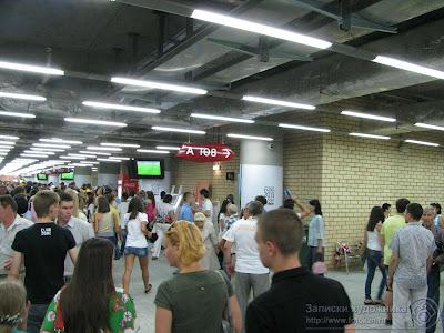 В вестибюле стадиона Казань-арена