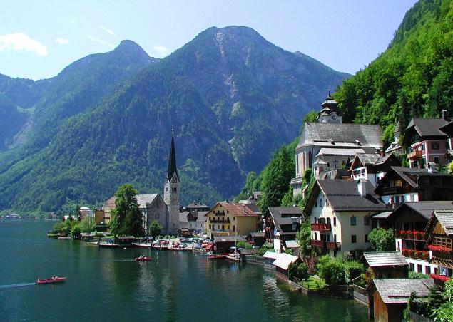 من أجمل الاماكن فى العالم : قرية هالستات النمساوية