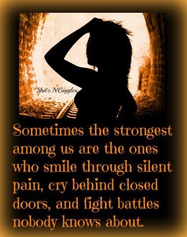 Quotes About Smiling Through Pain Silent Pain Quo...
