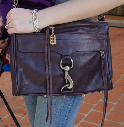 Rebecca Minkoff deep purple MAC bag