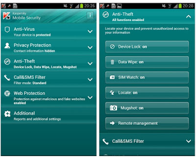 Aplikasi Antivirus Android Terbaik - Kaspersky Mobile Security
