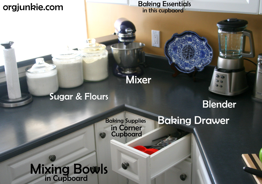 Kitchen For Baking ~ Organizing baking supplies in the kitchen