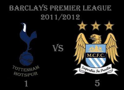 Totenham Hotspur vs Manchester City Barclays Premier League Results