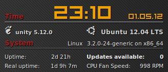 Jméno a verze desktopu v conky