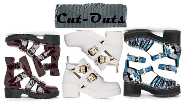 Fall 2014 Shoes Wishlist, Missguided, SpyLoveBuy, Forever21 cleated sole, boots, cut-outs
