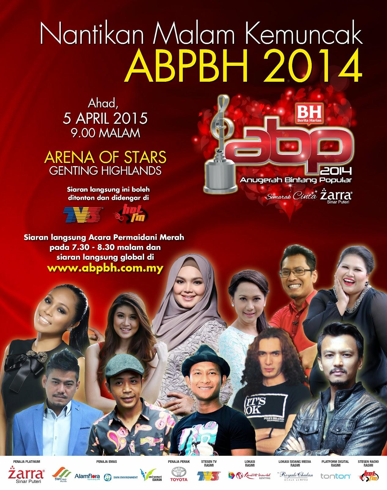 Anugerah Bintang Popular Berita Harian 2014