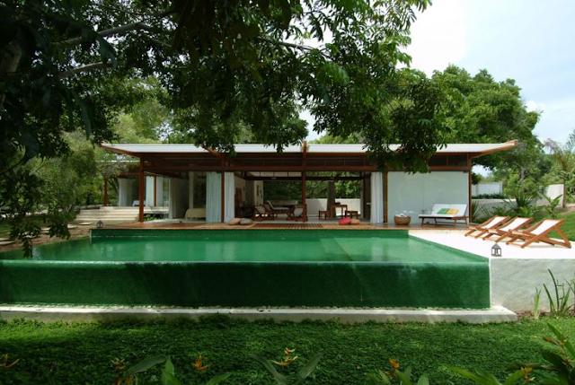 Dise o de casas home house design casas con piscina for Piscinas en el campo