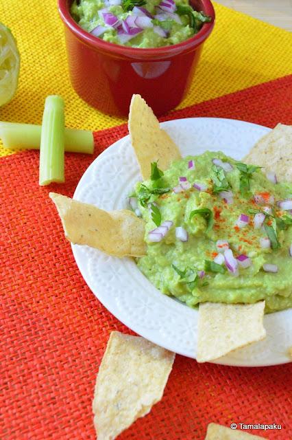 Celery Avocado Guacamole
