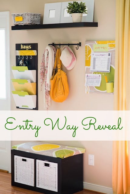Organized entryway makeover