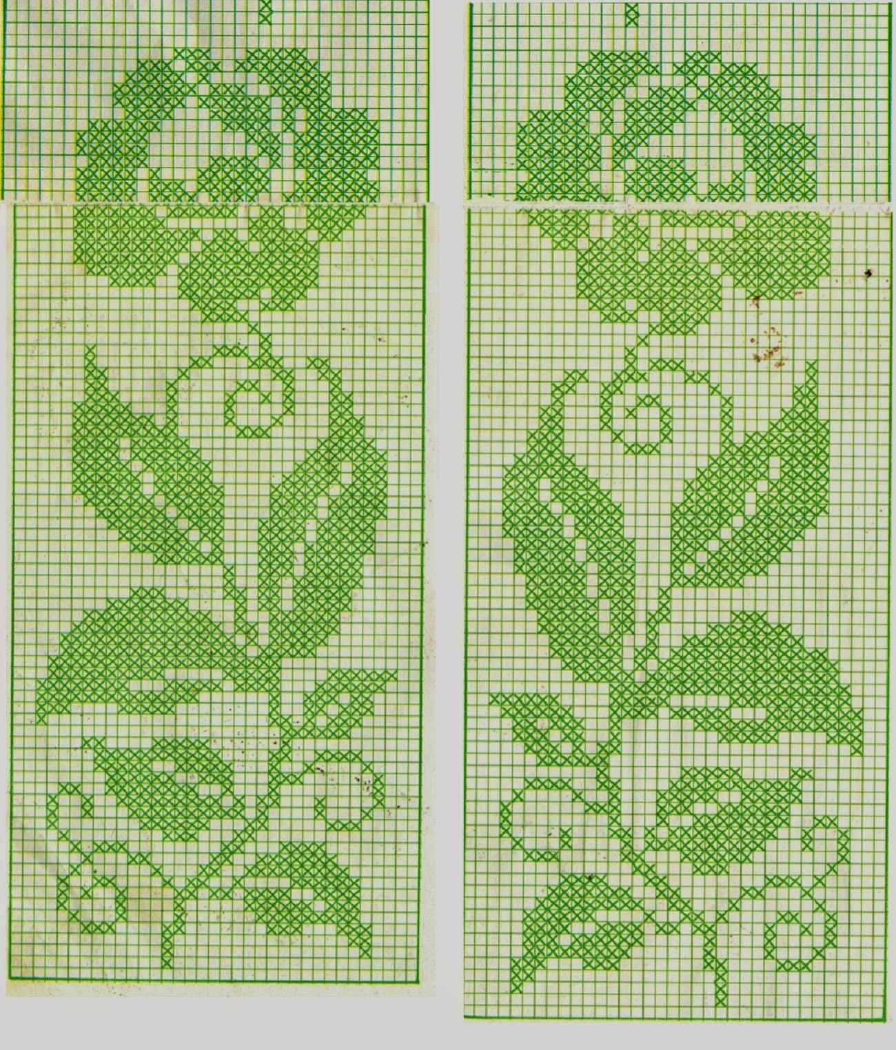 Hobby lavori femminili ricamo uncinetto maglia - Tende abbinate al copriletto ...