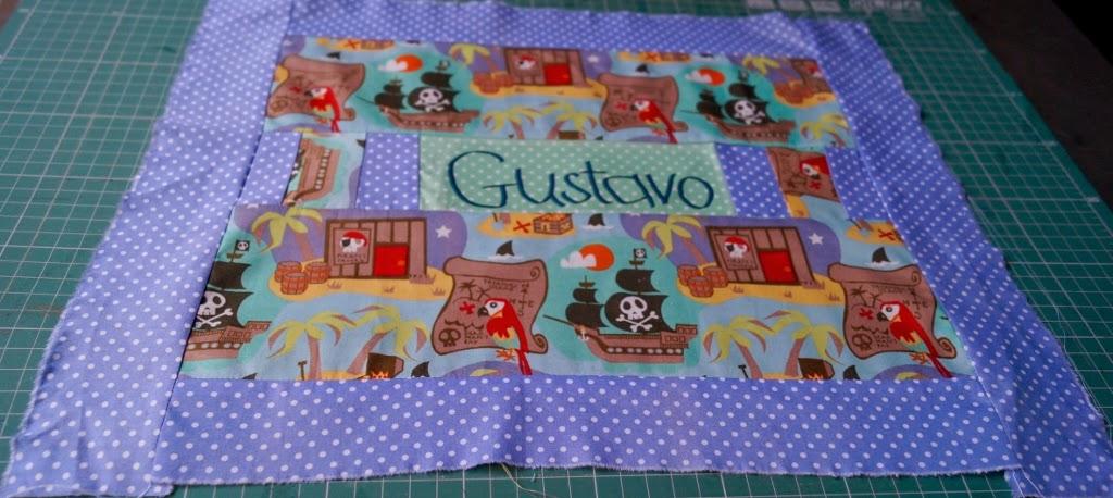 como fazer toalha para lanche de patchwork