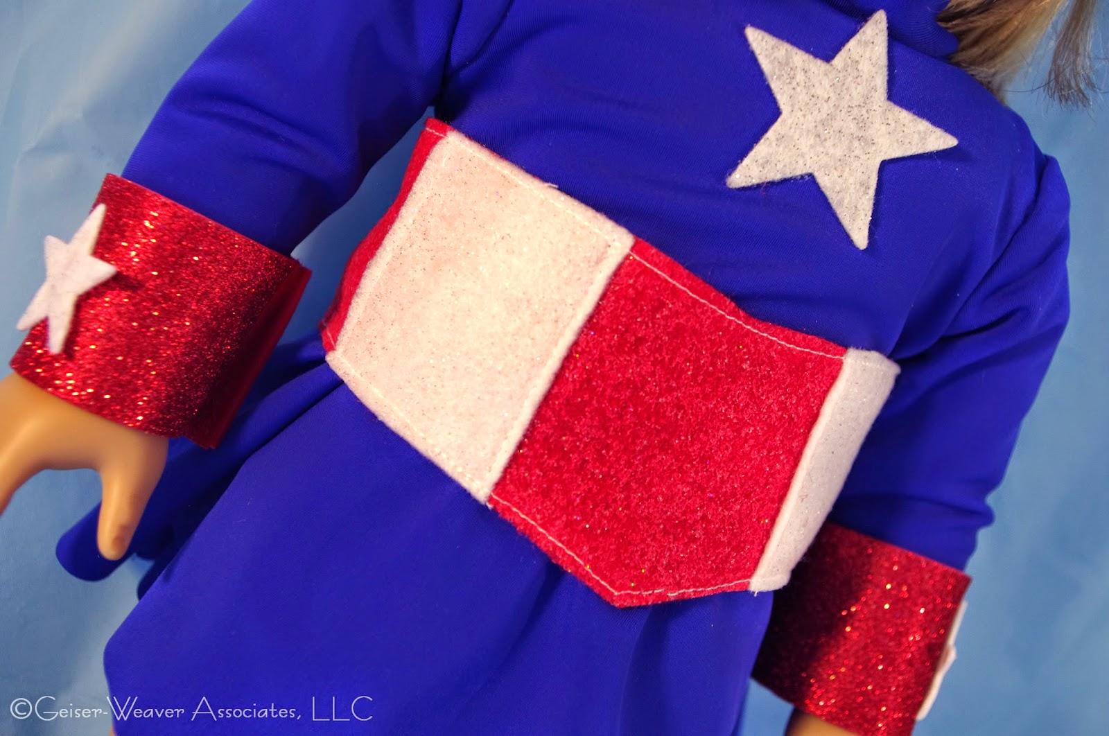 Geiser-Weaver Associates, LLC's new Captain America doll outfit