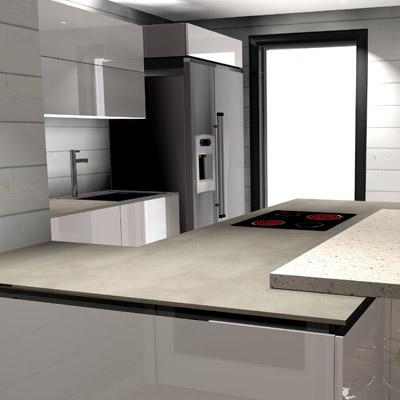 Proyectos en 3D cocinas zaragoza