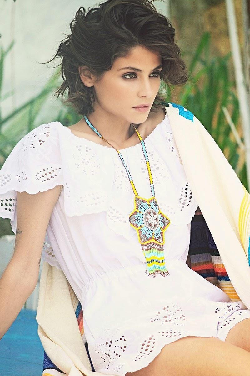 H.Preppy - blusa branca bordada