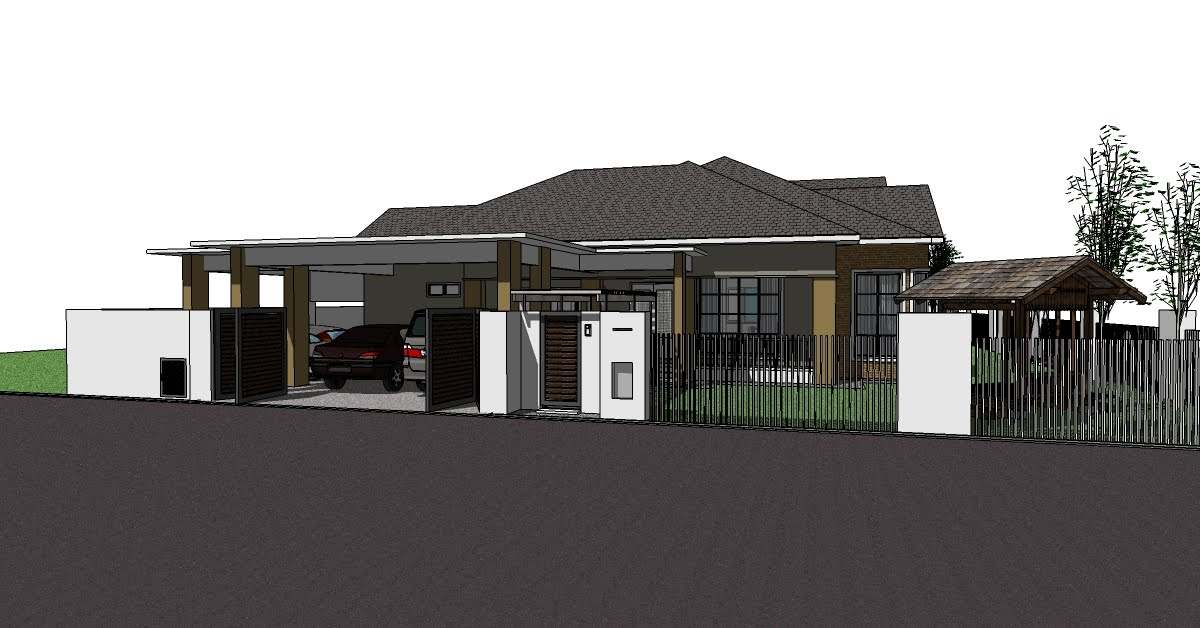 Single storey bungalow house plans joy studio design for Single storey bungalow floor plan