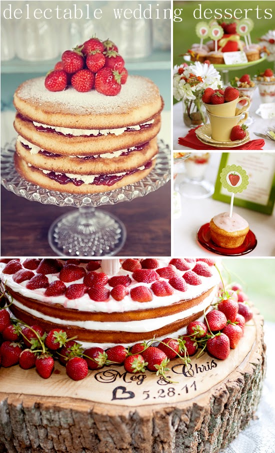 Strawberry Wedding Desserts