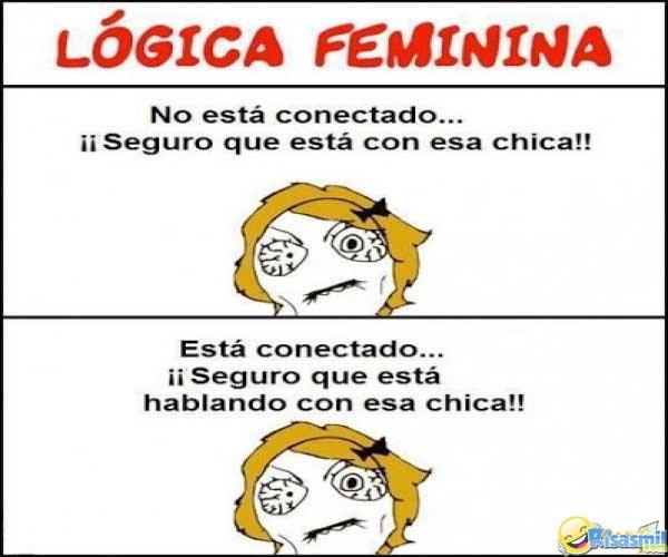 Logica femenina meme pensando en los chicos