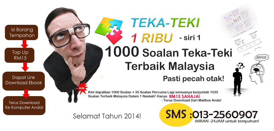 TEKA-TEKI 1 RIBU | 1000 Soalan  | KOLEKSI TEKA-TEKI BAHASA MELAYU