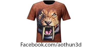 áo phông 3d hình thú, áo phông 3d hình động vật, áo phông 3d hình sư tử, ao phong 3d hinh con ho, ao phong 3d hinh thu